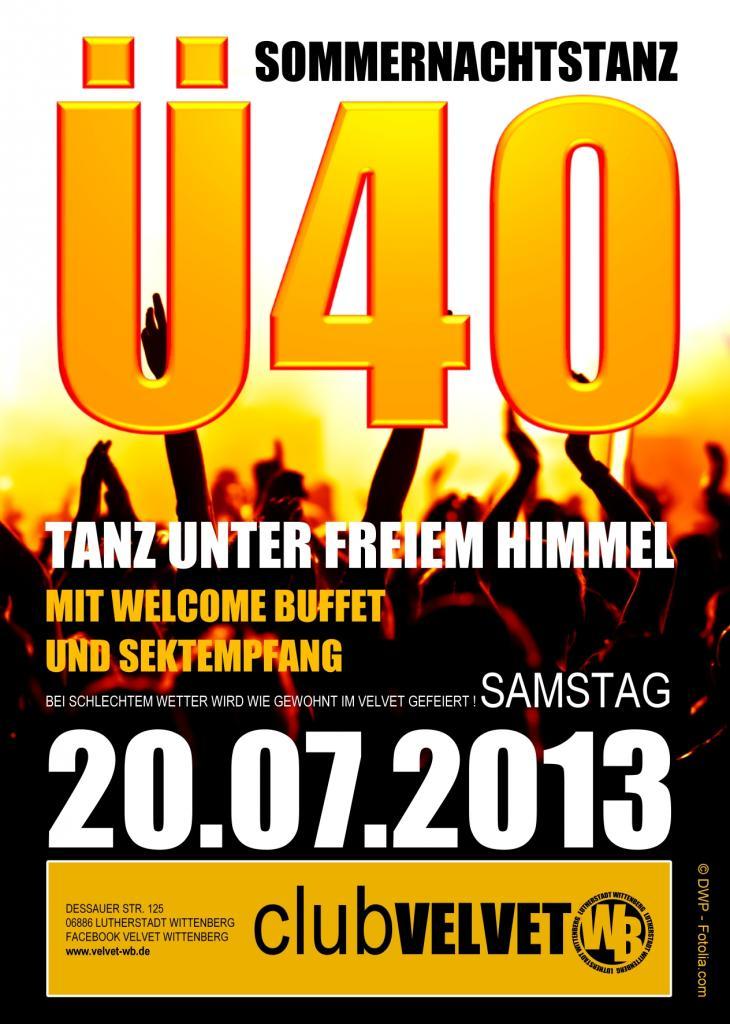 Event: Ü40 Party am 2013-07-20, Velvet Wittenberg